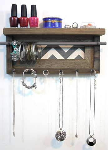 25 best ideas about chevron bathroom decor on pinterest for Bathroom jewelry holder