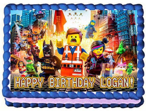 Lego Movie Quarter Sheet Edible Image Birthday Cake Topper. ~ Personalized! on Etsy, $7.99