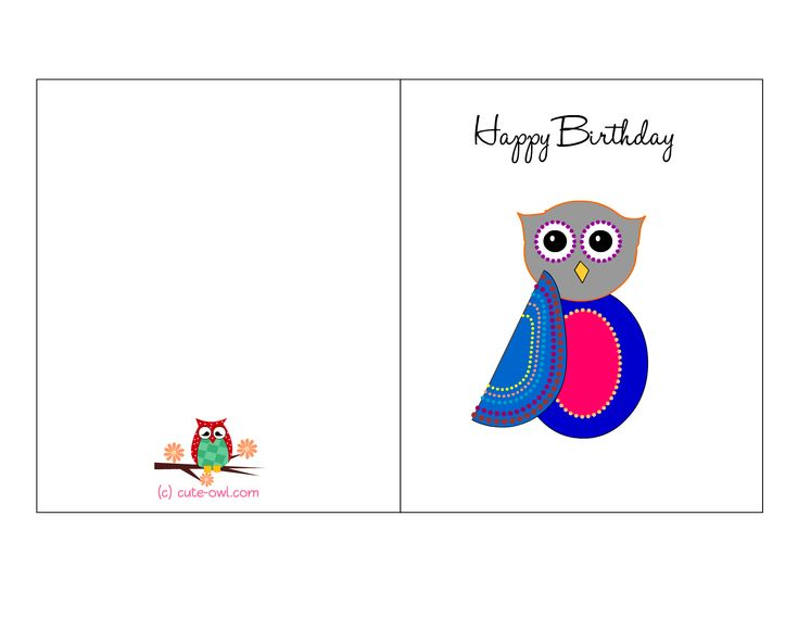 167 best free printable owl stuff images on pinterest printables owl birthday card 4g 16501275 bookmarktalkfo Choice Image