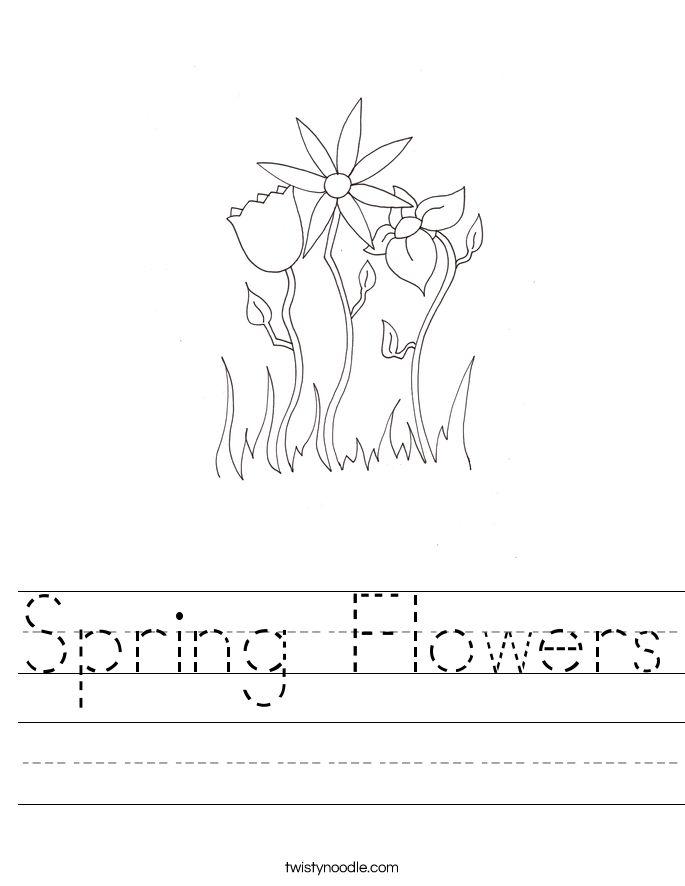 Spring Flowers Worksheet - Twisty Noodle in 2020 ...