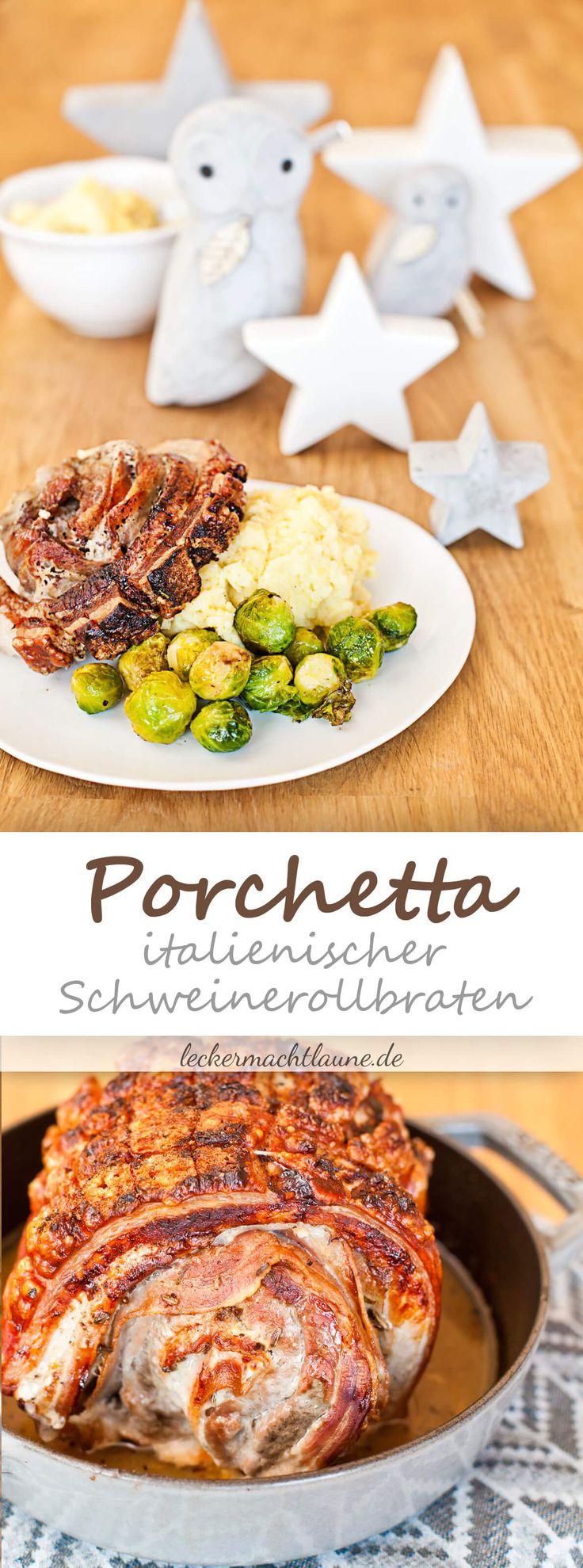Porchetta auf Kartoffelpüree und Rosenkohl {weihnachtsmenü 2016}