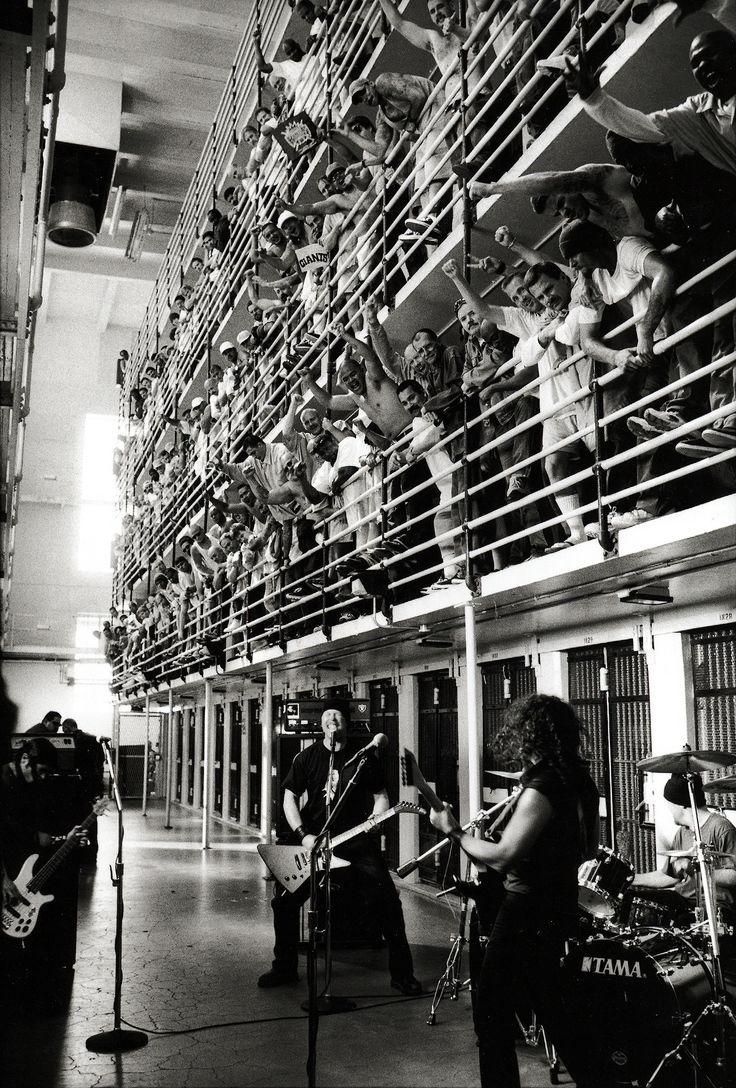 #Metallica performing at San Quentin State Prison, 2003.