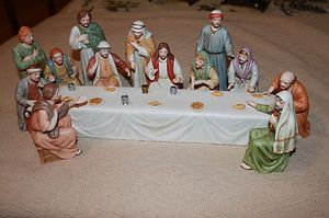 Home Interior Lords Supper Jesus Figurines Home
