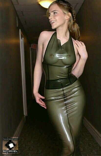 Mature transparent dress of square