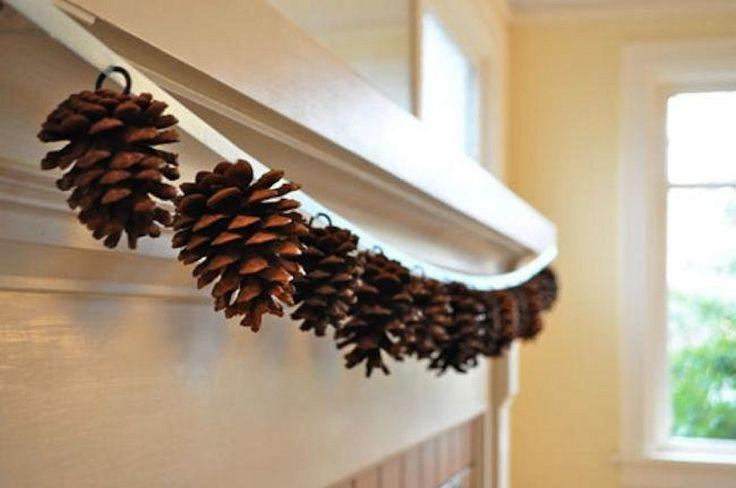 Ideas para decorar con las piñas de los pinos en Navidad | Decorar tu casa es facilisimo.com