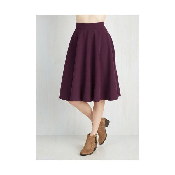 Long Full Bugle Joy Skirt ($55) ❤ liked on Polyvore featuring skirts, bottoms, purple, apparel, full skirt, full skirts, purple skirt, button skirt, long maxi skirts and long trumpet skirt