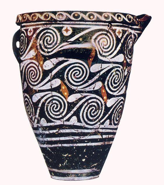Pithos, 1800-1700 ca. a. C., civiltà minoica (periodo protopalaziale), ceramica dipinta in stile di Kamares, da Kamares. Heraklion, Museo Archeologico