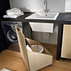 ARMÁRIO ESCONDIDO   inspiração para uma mini-lavanderia! #minilavanderia #aproveitandoespacos #dicascriativas #dicatecnisa #tecnisa