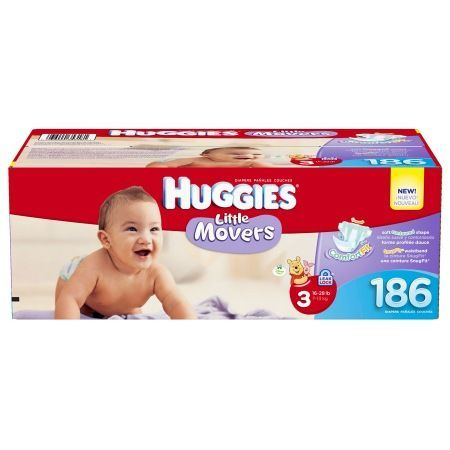 Huggies Little Movers Diapers, Economy Plus Pack Size 3 - 174 ea