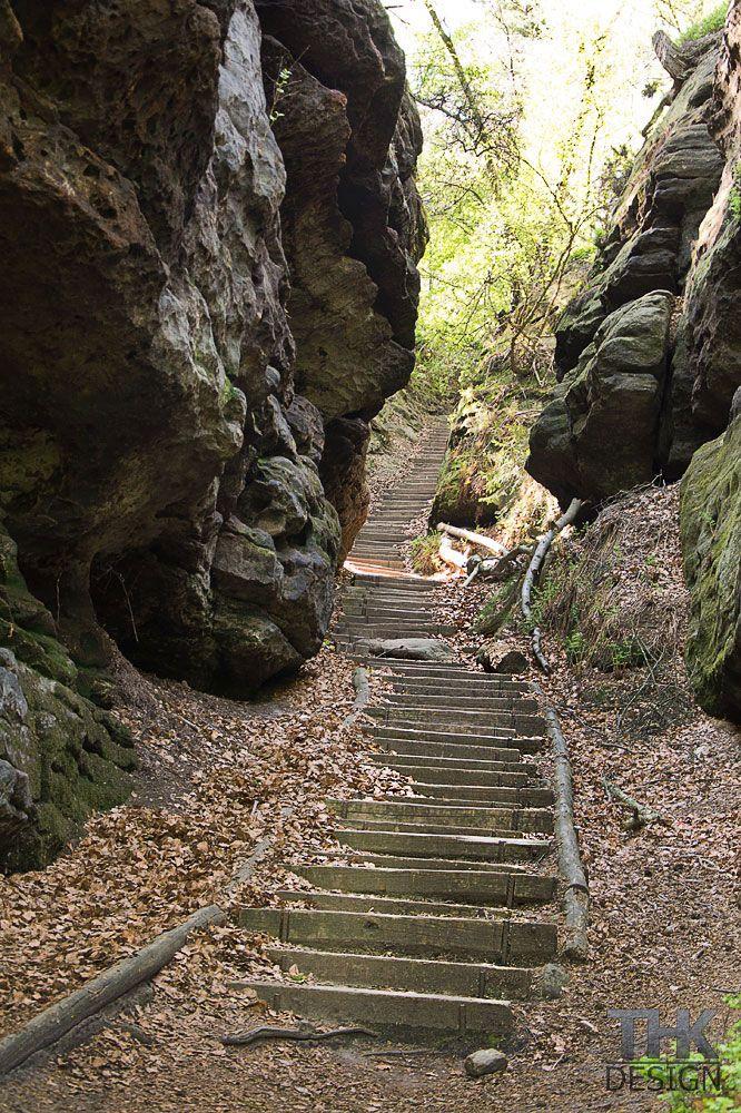Papststein, Aufstieg zum Plateau