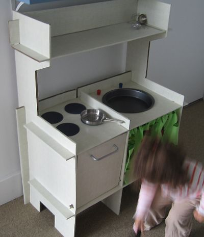 Cardboard Play kitchen!