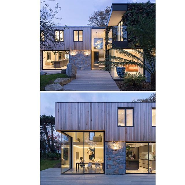 DLM Architects have recently completed a new house on the island of Guernsey that replaces a run down lot surrounded by trees