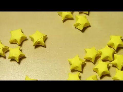 Sternchen aus Papier falten I 3D Sterne für Weihnachten I Origami - YouTube