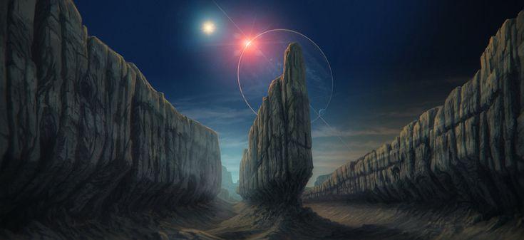 Distant eclipse by JustV23.deviantart.com on @DeviantArt