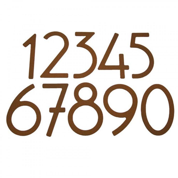 Rust Contemporary House Numbers - Address Plaques and House Numbers - Outdoor