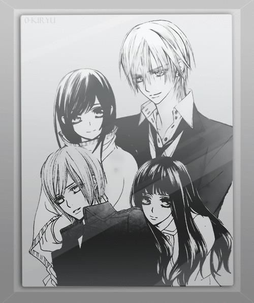 Yuki Kiryu, Ren Kiryu and Ai Kuran. Zero will happily protect them forever. #VampireKnight