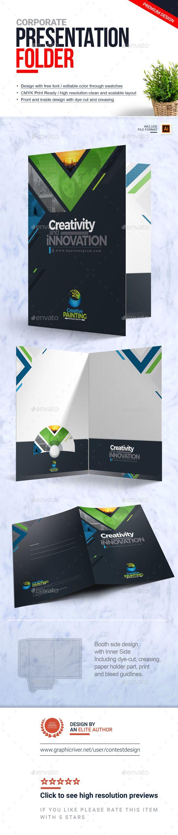 Presentation Folder | File-Paper-Document Holder Design Template