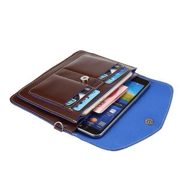 Samsung Galaxy Note 8 Organizer Crossbody Bag With Card Slots Brown Crossbody Bag Holster Bag Wallet