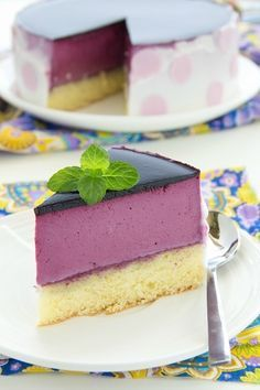 ТОРТ. Торт с чернично-йогуртовым муссом. Blueberry-yogurt cake.