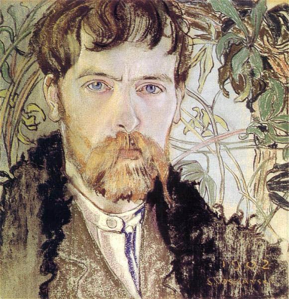 Stanisław Wyspiański (1869–1907), Polish playwright, poet, architect, painter, prolific self-portraitist (1902)