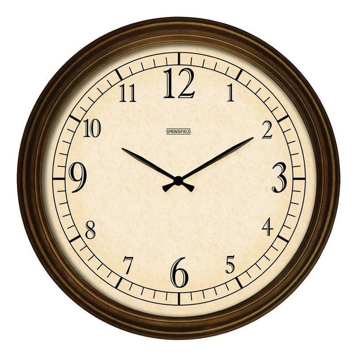 Springfield Wall Outdoor Clock