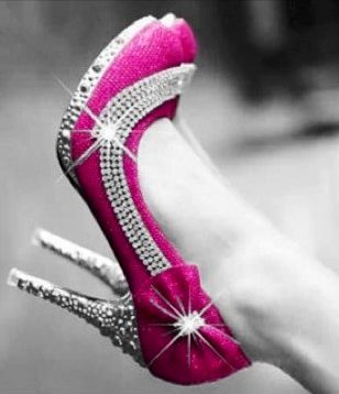 Pink Glitter Pumps Color Splash ~ by Ladee Pink