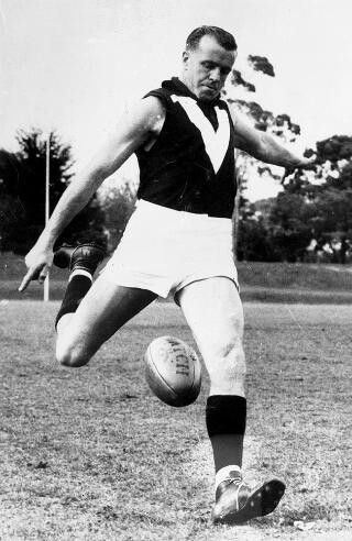 Legend - Ted Whitten (Footscray) Games 321. Known simply as 'Mr Football' or 'EJ', the champion Footscray player could play in any position on the ground.