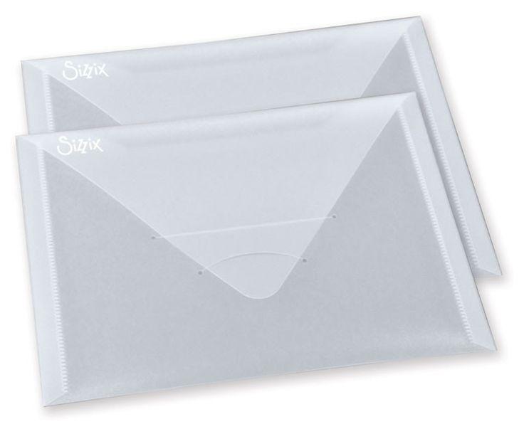 "Sizzix Plastic Storage Envelopes 6-1/4""x9"""