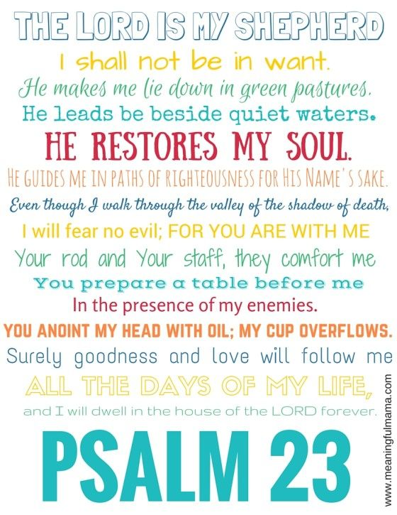 Psalm 23 Free Printable - Bible Resources for Scripture