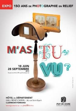 "3D PHOTO EXHIBITION IN CLERMONT-FERRAND, FRANCE  ""150 years of 3D photography"" is the theme of the ""M'as tu vu?"" Exhibition visible in Clermont-Ferrand, France up to September 28, 2012. The archives of the French photographer Fernand Ladoux provided more thn 400 3D stereoscopic pictures (dual views and anaglyphs) shot with a Verascope Richard camera. Several rare devices from the Second empire period such as a Mexican stereoscope are also displayed. Modern 3D devices"