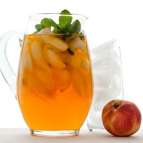 Peachy Iced Green Tea, a recipe from ATCO Blue Flame Kitchen's Everyday Delicious 2013 cookbook.