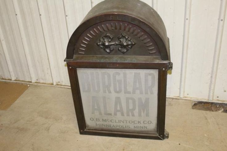 This antique burglar alarm from O.B. McClintock of Minneapolis will come before bidders Dec. 1 during Millers Auction Co. Online bidding is available through AuctionZip.