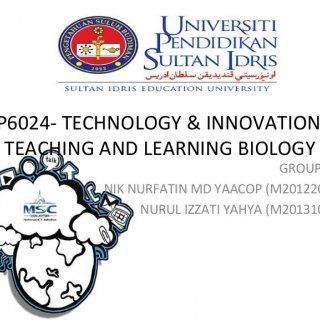 SBP6024- TECHNOLOGY & INNOVATION IN TEACHING AND LEARNING BIOLOGY GROUP NAME: NIK NURFATIN MD YAACOP (M20122001558) NURUL IZZATI YAHYA (M20131000615)  2. http://slidehot.com/resources/how-ministry-of-education-in-malaysia-support-smart-school.58527/