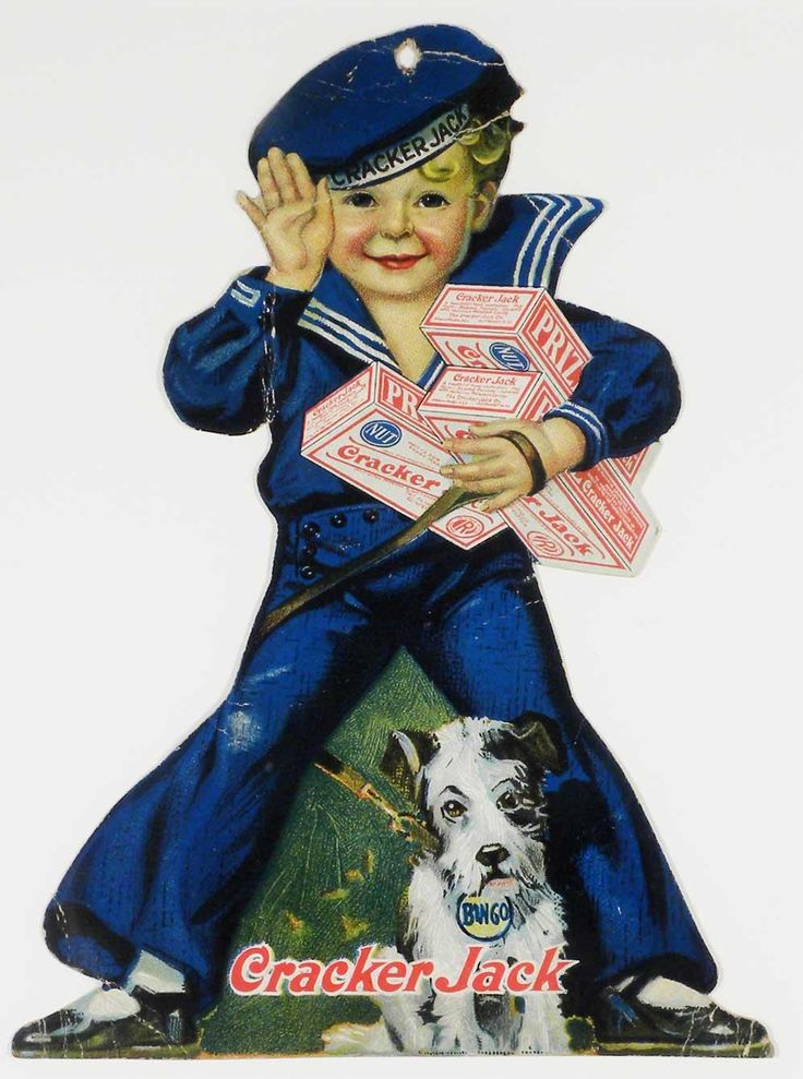 """Cracker Jack ""Diecut for popcorn Ad                                                                                                                                                                                 More"