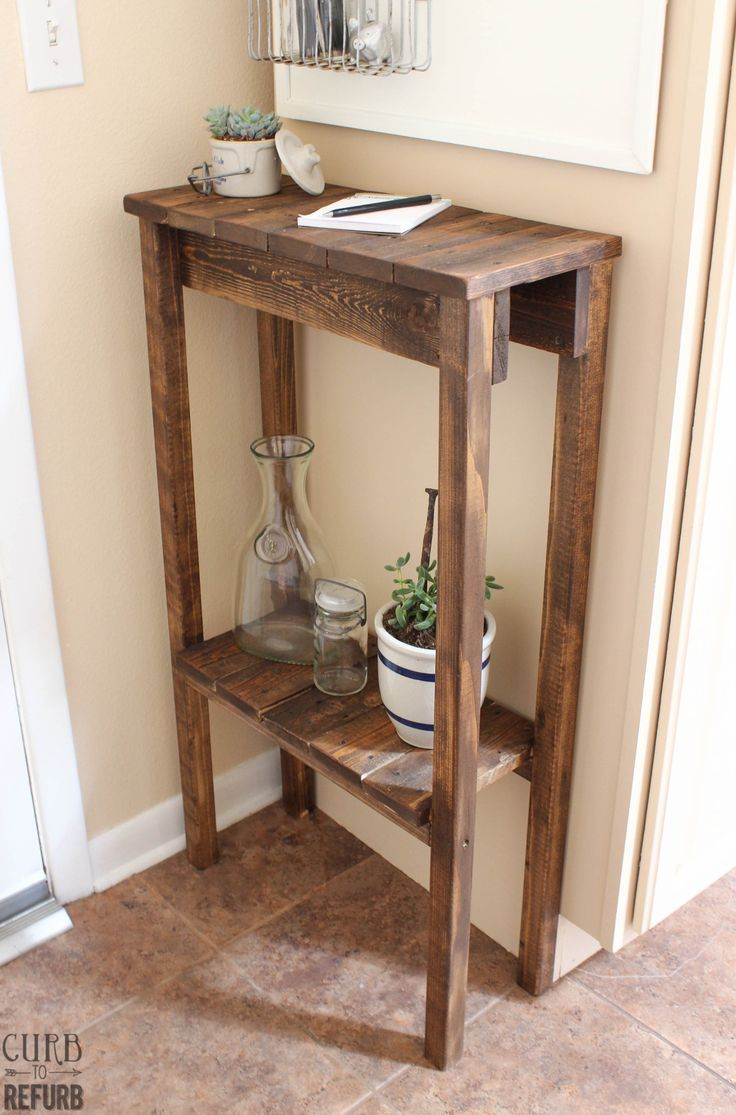 How to make a sofa table out of floor boards - How To Make A Sofa Table Out Of Floor Boards 53