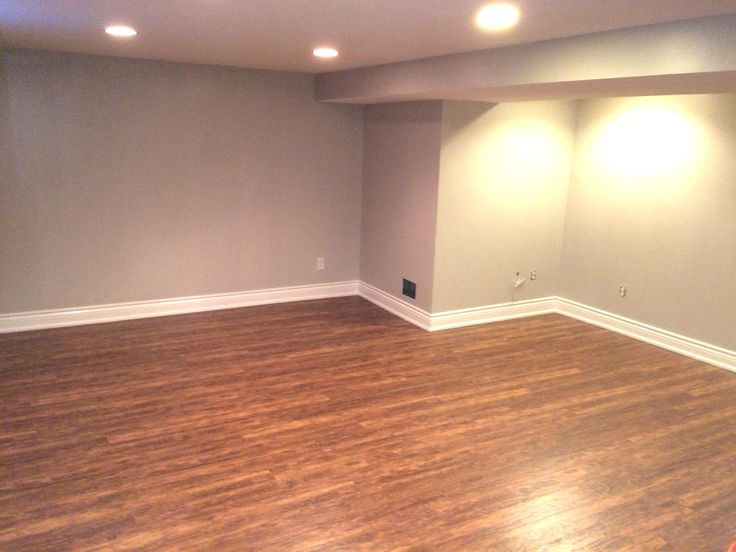 This basement had new drywall added 12 inches up around the perimeter, plastered, primed, painted. New sub-floors, and laminate flooring. Shoe Moulding ,  Bathroom , and laundry room renovated.