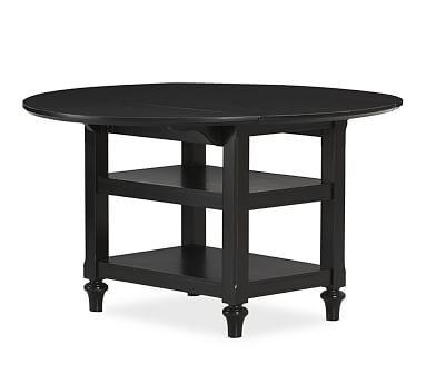 $599, black Shayne Drop-Leaf Kitchen Table #potterybarn