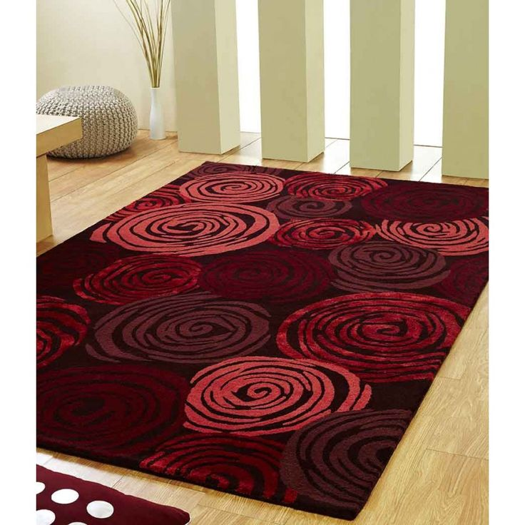 Rose Floral Unique Rug by Ultimate Rug Instantly upgrade your room with our exclusive Rose Floral Unique Rug by Ultimate Rug. #floralrugs #redrugs #woolrugs #luxuriousrugs #modernrugs #handmaderugs #easytocleanrugs