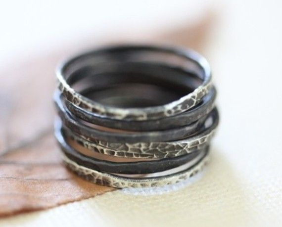smoky stacked rings
