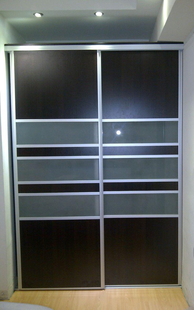 Closets con puertas correderas Perfiles de Aluminio  Vidrio esmerilado  #Masanica