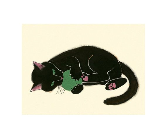 black cat art print black cat claws and effect 83 x 58