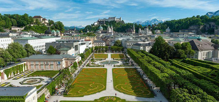Mirabell gardens in the city of Salzburg Austria © Tourismus Salzburg