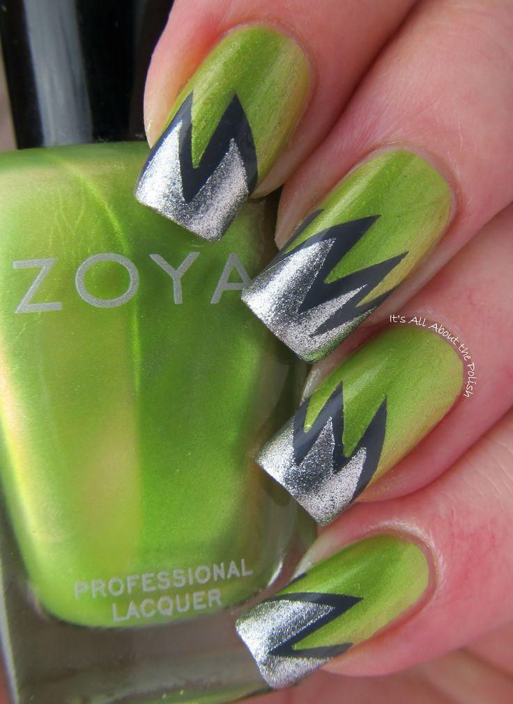 194 mejores imágenes de Nails: All Shades of Green en Pinterest ...