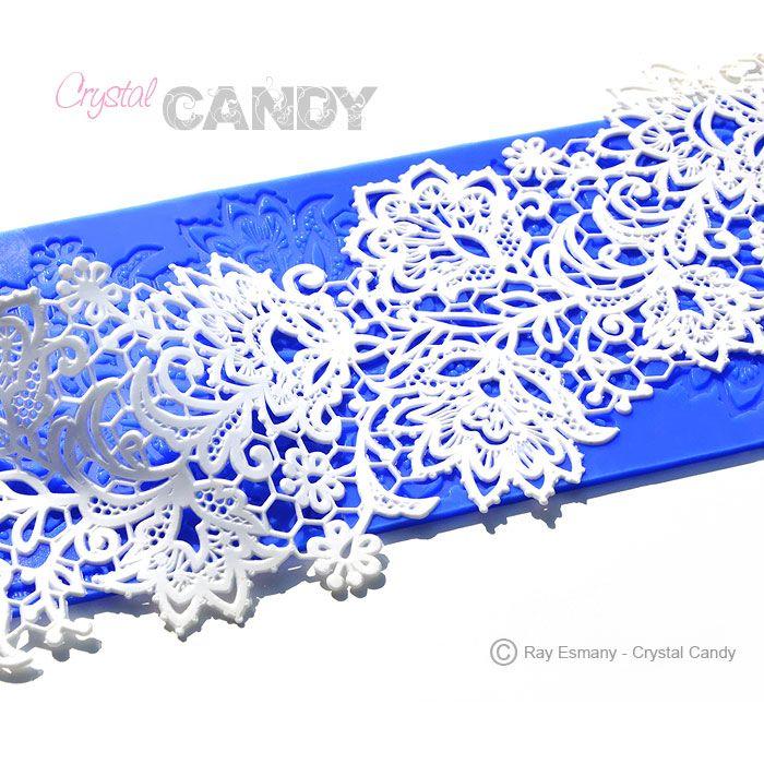 Beautiful and intricate CakeArt Gold silicion mat design: STAR