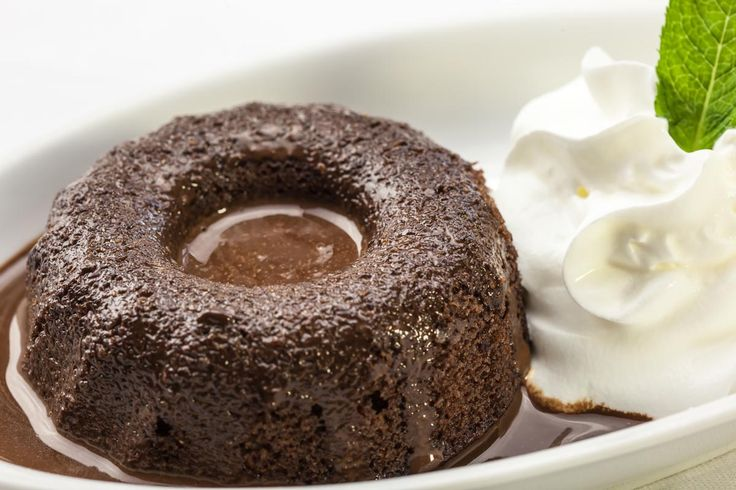 Mohr im Hemd: Austrian steamed pudding with chocolate, almond and red wine.