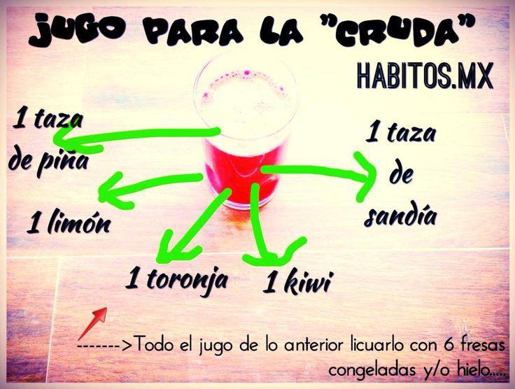 "Jugo para la ""cruda""! :))"