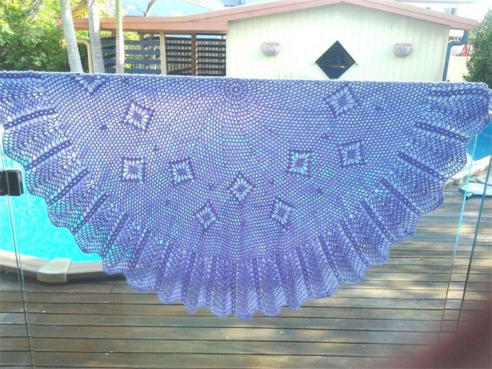 Lilac Circular Crochet Baby Blanket  130cm diameter