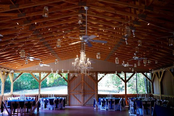 Bluff Mountain Inn's reception barn...gorgeous barn wedding in the Smoky Mountains! Click here for more from http://bluffmountaininn.com