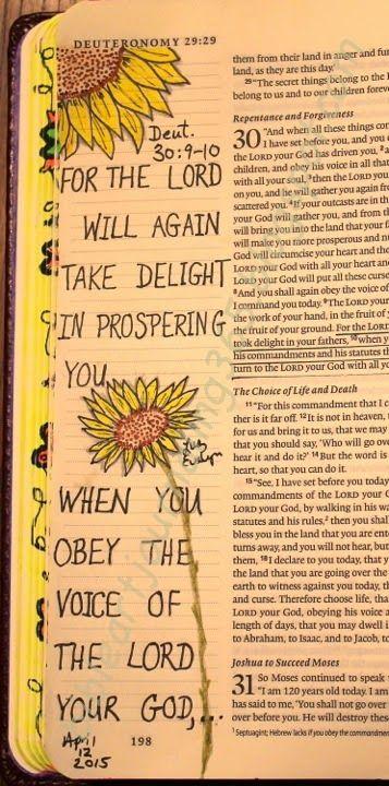 Easy Bible Art Journaling Journey: Deuteronomy 30:9-10 #Deuteronomy #journalingbible #biblejournaling