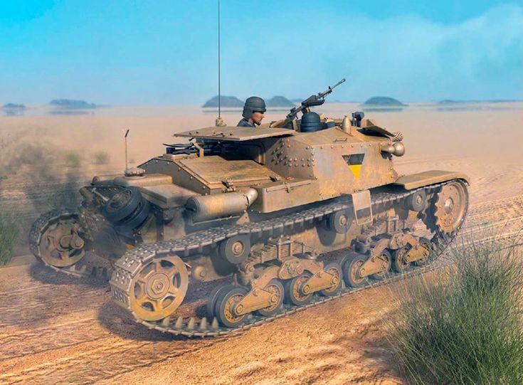 """Semovente M 40 DA 75/18, Ariete Division, Western Desert, January 1942"""